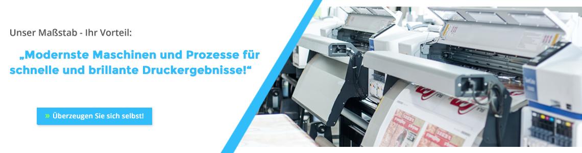 Modernste Maschinen und Prozesse für brillante Druckergebnisse!